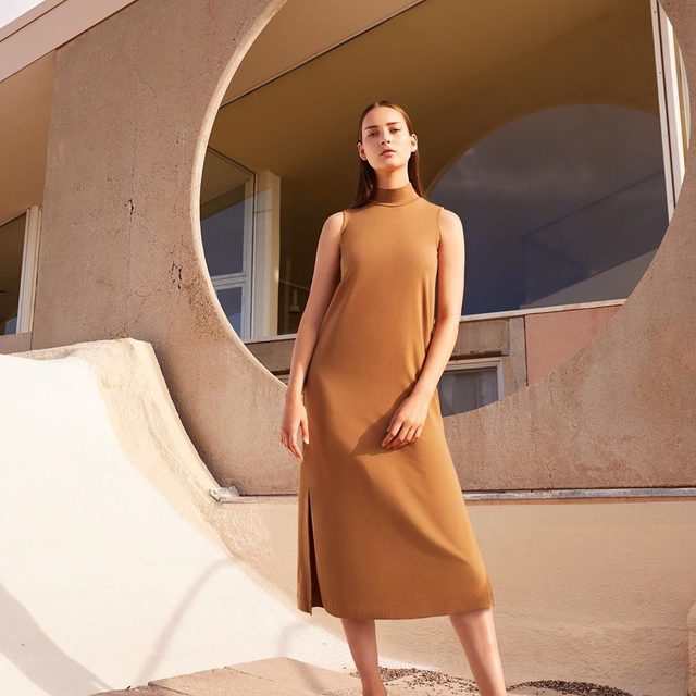 Introducing the Turtleneck Dress.  Crafted from a luxurious combination of soft modal and smooth Pima cotton—grown exclusively in the North of Peru. This is the day-to-night piece designed to take you anywhere.