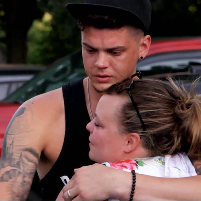 #TeenMom Tyler Baltierra and Catelynn Lowell broke down after meeting with their eldest daughter Carly, who they placed for adoption when they were just teenagers. ❤️ Link in bio for more.