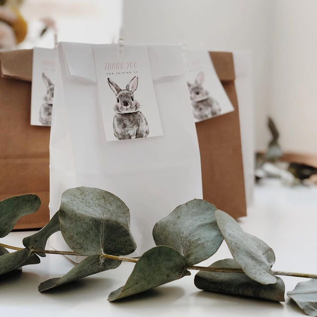 """Celebrate the new addition with darling finishing touches to the baby shower. """"Baby Animal Rabbit"""" favor tags by @cass.loh. Photo from mama-to-be @imthu. 💕"""