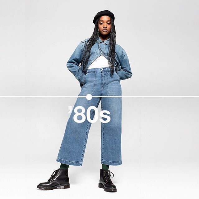 An '80s-inspired oversize denim jacket and a workwear wide-leg jean, part of our limited-edition collection celebrating 50 years of denim. Vintage look with a well-loved feel. Tap to shop. #GapDenim
