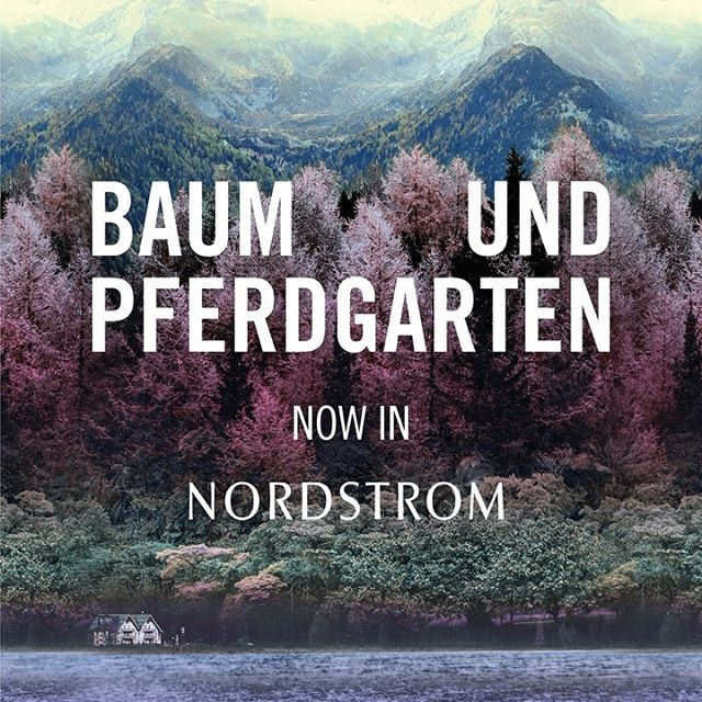 We are so excited that you can now find #BaumundPferdgarten in @Nordstrom 💜 . Come and visit us in store in LA, San Diego, and Nashville or shop online . #BaumFamily #Nordstrom
