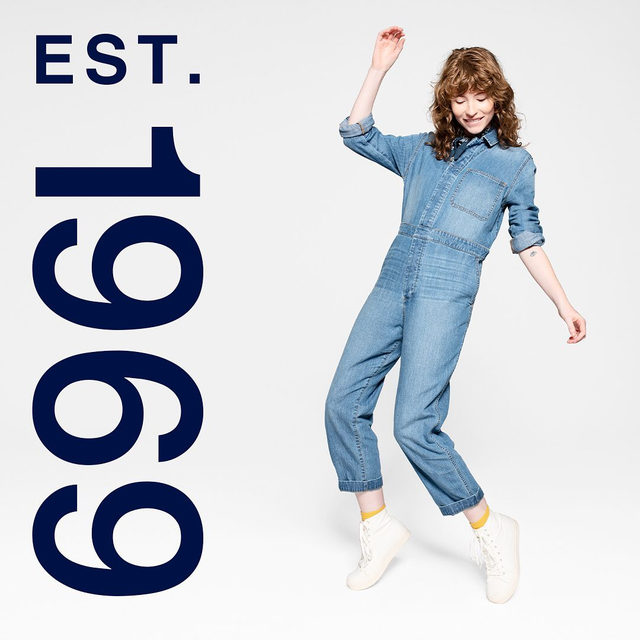 Because the best denim is even better worn head-to-toe. Introducing the 1969 Premium flight suit. Original details, reimagined for right now. Tap to shop. #GapDenim