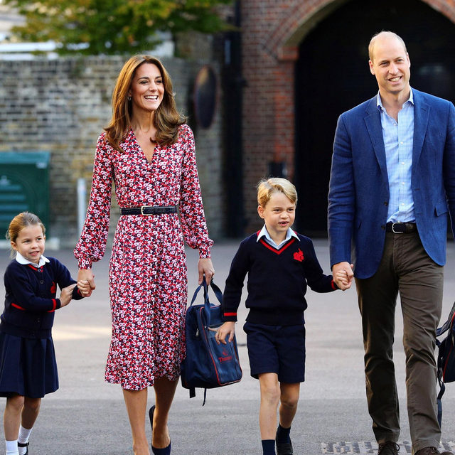 And that's how royals do back-to-school style. Tap our link for all the details on Kate Middleton's pretty dress from Princess Charlotte's very first day of school today. photo: getty images