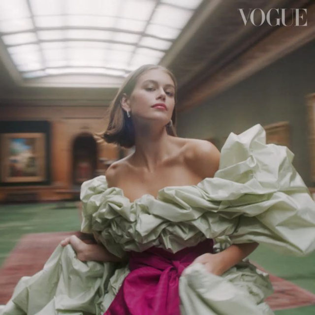 @KaiaGerber's graceful poise and confident sense of self-awareness belies her youthful years. On the week of her 18th birthday, #BritishVogue's October 2019 cover star celebrates her coming-of-age moment in regal splendour, with a little help from @MaisonValentino @GiambattistaValliParis, @RalphAndRusso and more. Watch the full film via the link in bio.  Directed and edited by @BarbarAnastacio, produced by @TheRealMinnieCarver with photography direction by @DrewDawson, styling by @Ajmukamal, hair by @BenjaminMullerHair and make-up by @YumiLee_Mua.