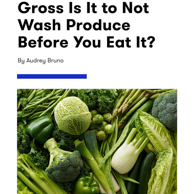 When it comes to fruits and veggies, it's never totally clear how deeply they need to be cleaned to be safe to eat. Does rinsing do anything? Do you need soap? Do you have to, like, scrub? It's a question as old as time, and it seems like everyone has a different method. We've got the scoop on how produce should *actually* be washed to be clean at the link in bio.