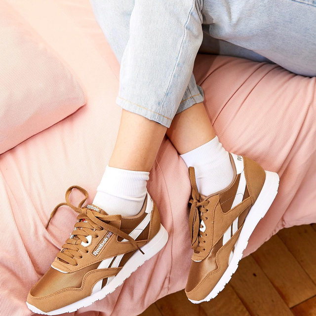 The most comfortable and the most essential Classic Nylon Sneaker from @ReebokClassics. Tap to shop! #UOonYou