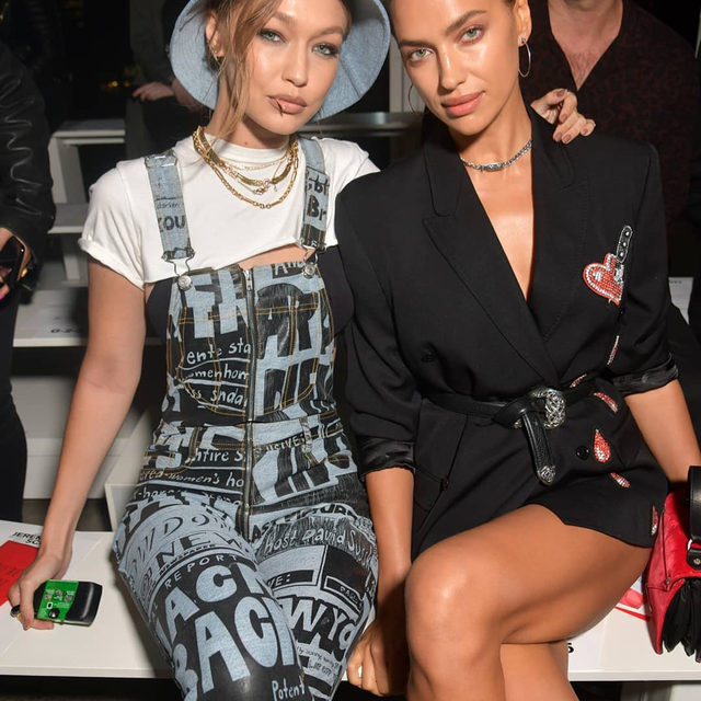 Supermodels and regular runway fixtures #GigiHadid and #IrinaShayk swapped the runway at @JeremyScott's #SS20 show at #NYFW, instead to cheer their friend on from the front row, offering the designer a standing ovation for his space odyssey-inspired catwalk. Click the link in bio to see every look from the show.