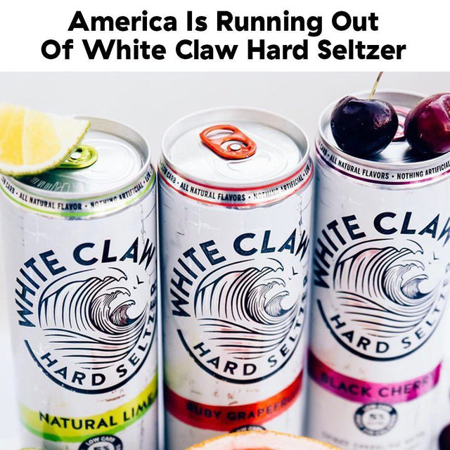People are straight-up PANICKING 😱 Full story at the link in bio.  #Delish #DamnThatsDelish #whiteclaw