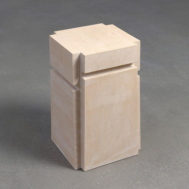 """A solo exhibition of works by Rachel Whiteread opened today at the Georgia Museum of Art in Athens!  Using various materials to articulate the negative space surrounding or contained by objects, Whiteread has elaborated various approaches to casting and impression as subject, process, and vehicle for content. In this show, Whiteread is exhibiting a 2010 series of five outdoor stone sculptures, cast from the voids under different chairs. Find out more via the link in our bio. __________ #RachelWhiteread #Gagosian @georgiamuseum Rachel Whiteread, """"Untitled,"""" 2010 © Rachel Whiteread"""