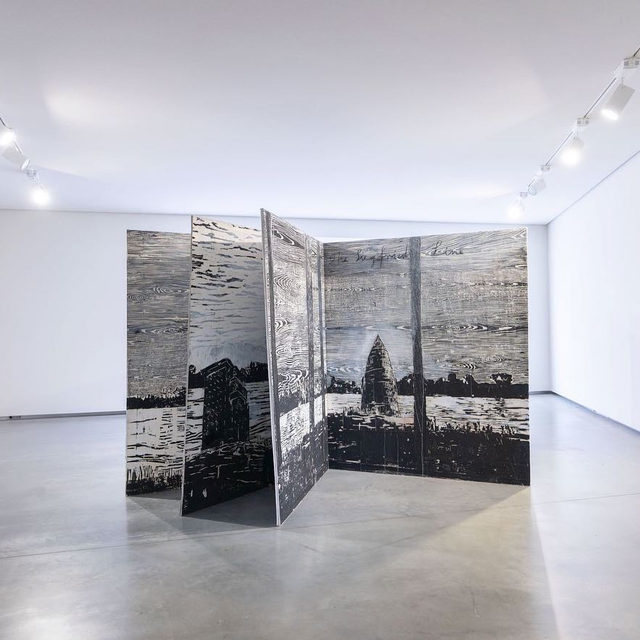 """Visit """"Anselm Kiefer: Bøker og tresnitt"""" at Astrup Fearnley Museum in Oslo before it closes this Saturday!  The exhibition aims to point out the various connections Kiefer has with poetry, myths, history, philosophy, and alchemy, through a collection of artist's books dating from the years 1969 to 2017, along with a selection of his woodcuts. Find out more via the link in our bio.  __________ #AnselmKiefer #AstrupFearnley #Gagosian @astrupfearnley Installation views, """"Anselm Kiefer: Bøker og tresnitt,"""" Astrup Fearnley Museum, Oslo, May 29–September 14, 2019. Artwork © Anselm Kiefer"""