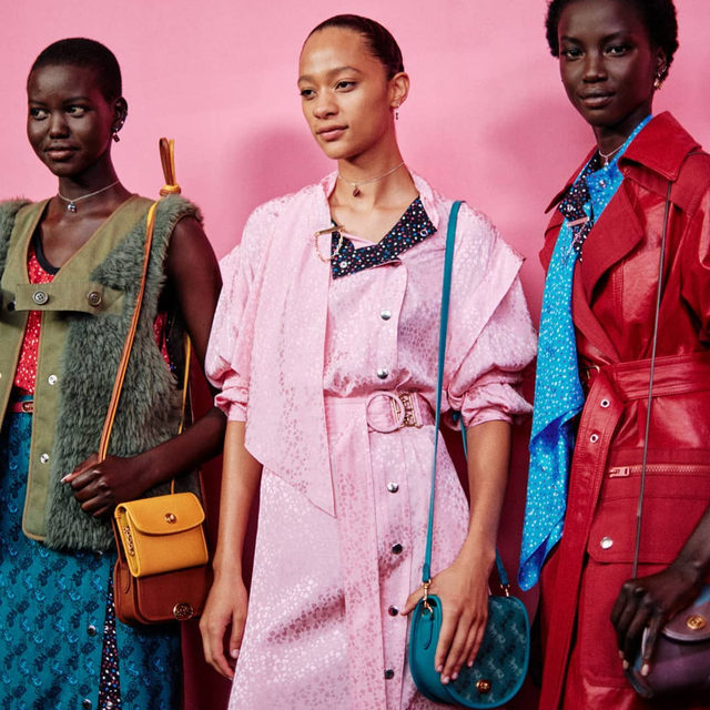 Models #AdutAkech, #SelenaForrest and #AnokYai backstage at the @Coach #SS20 runway show at #NYFW. This season, creative director @StuartVevers evolved #Coach's signature prairie style and in its place presented a riot of colour and vibrant graphics with a distinct feeling of nostalgia from the late '70s and early '80s. Click the link in bio to see every look from the show.