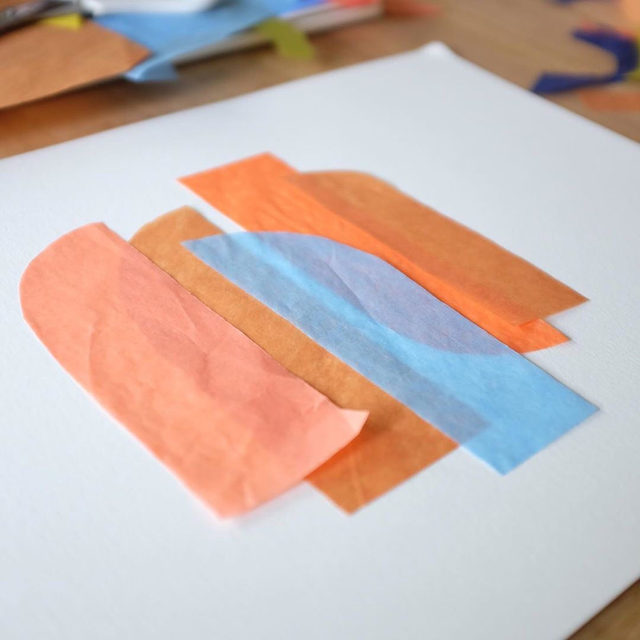 Meet #MintedArtist @carriemoradi. Print design and color obsessed, this Ohio-native blends colors and creates organic edges and shapes using torn tissue paper. Head to our Stories to learn more about Carrie's process.