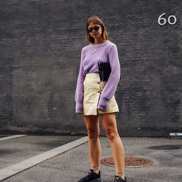 @whaelse in our Cortney knit and Sheridan skirt from our 20 year anniversary collection💜💛 #BaumFamily . #BaumundPferdgarten