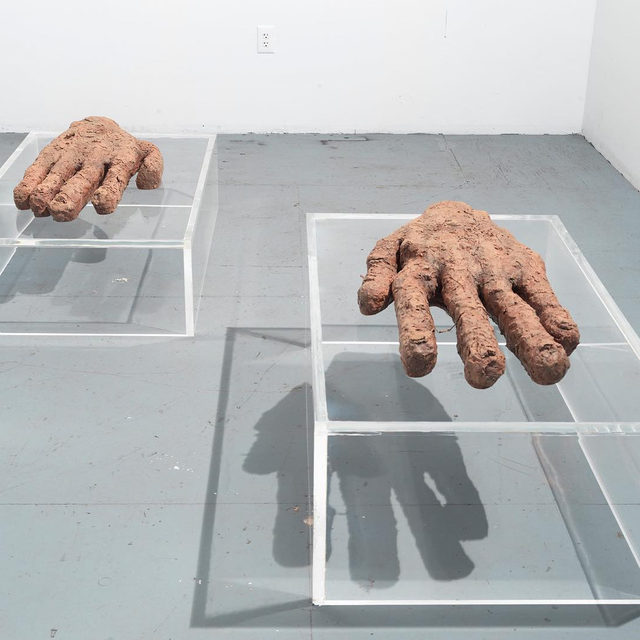 """On the occasion of Huma Bhabha's first exhibition in Rome, the Galleria Nazionale d'Arte Moderna e Contemporanea will host a conversation between the artist and Cristiana Perrella, director of the Centro per l'Arte Contemporanea Luigi Pecci in Prato, Italy. The free event will take place on Wednesday, September 18, at 6pm!  The show at Gagosian, Rome, features expressive drawings on photographs as well as figurative sculptures carved from cork and Styrofoam, assembled from refuse and clay, or cast in bronze, through which Bhabha probes the tensions between time, memory, and displacement. References to science-fiction, archeological ruins, Roman antiquities, and postwar abstraction combine as she transforms the human figure into grimacing totems that are both unsettling and darkly humorous. __________ #HumaBhabha #Gagosian @lagallerianazionale Huma Bhabha, """"Prophet and Loss,"""" 2019 © Huma Bhabha. Photo: Rob McKeever"""