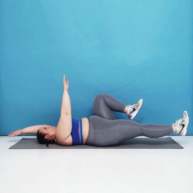 This 8-minute abs workout includes a handful of bodyweight exercises that show all your abs muscles some love. Directions are easy: Do each exercise for 30 seconds. Repeat three times through, or four if you're feeling it. Tap the link in bio for more deets. #SweatWithSELF