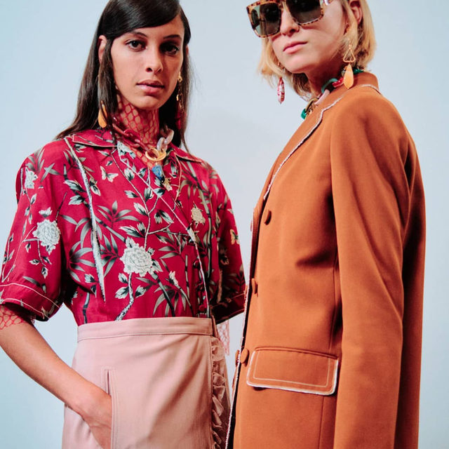 Backstage at #Ports1961 catwalk show at #LFW, the atmosphere was bright and cheerfully in line with Artistic Director Karl Templer's vision for his inaugural #SS20 season ahead, dominated by an eclectic mix of fine tailoring and feminine silhouettes in striking, vibrant colours and patterns. Click the link in bio to see every look from the show.