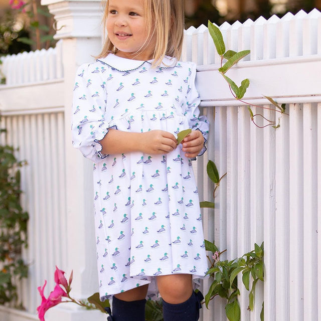 @PippaLayette has some adorable Mallards coming your way next week! Soft pima cotton for your little girl and boy.  Mark those calendars! 🦆🦆 9/19