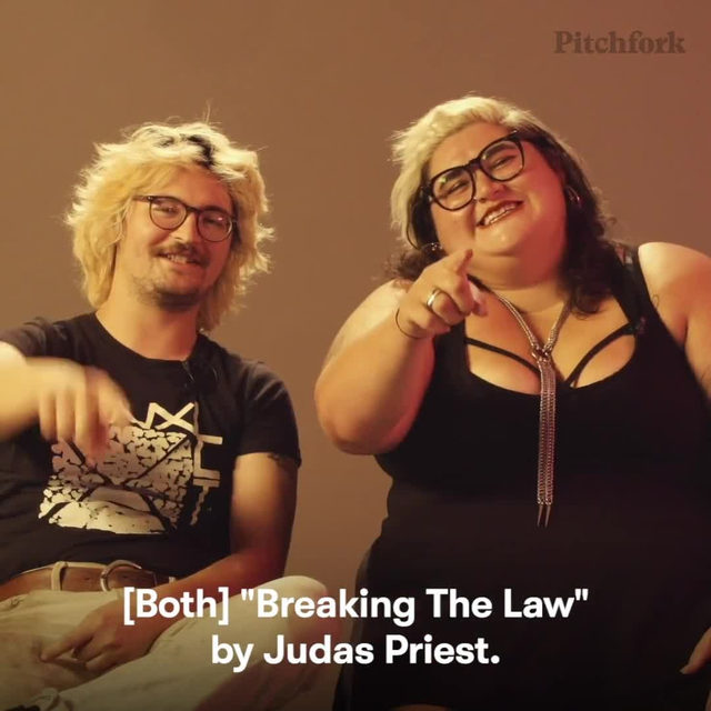 "If there was one song Sheer Mag wish they wrote, it would be ""Breaking the Law"" by Judas Priest. Watch the full video in the link in our bio."