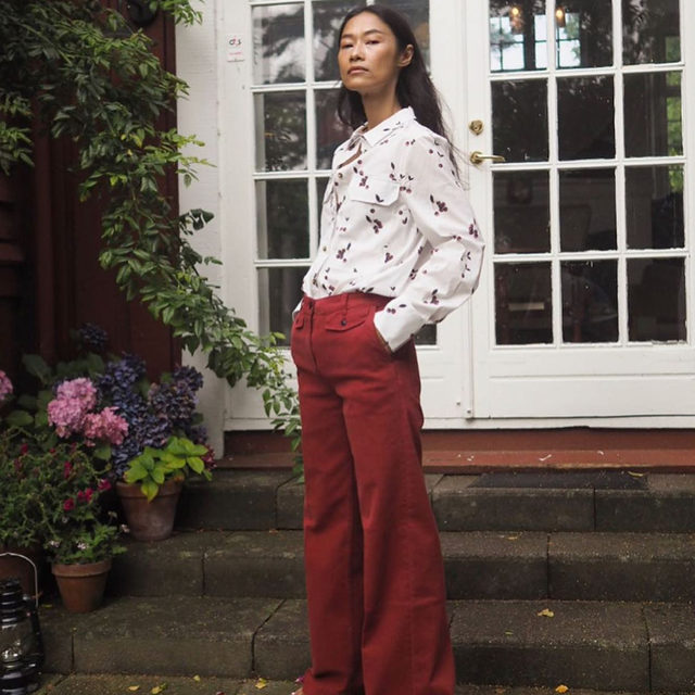 @ps.shadesofmylife in our Mabel shirt and Nia trousers 🍒 #BaumFamily . #BaumundPferdgarten