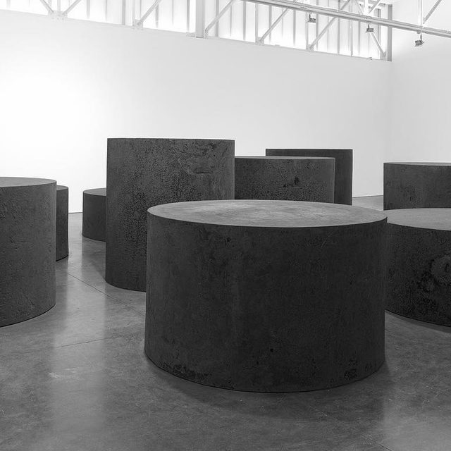 """#RichardSerra: Join us this evening, from 6–8pm, for the opening of two exhibitions by Richard Serra—""""Forged Rounds"""" at Gagosian, West 24th Street and """"Reverse Curve"""" at Gagosian, West 21st Street, New York! Learn more about both shows via the link in our bio. ___________ #Gagosian Richard Serra, """"Nine,"""" 2019 © 2019 Richard Serra/Artists Rights Society (ARS), New York. Photo: Rob McKeever"""