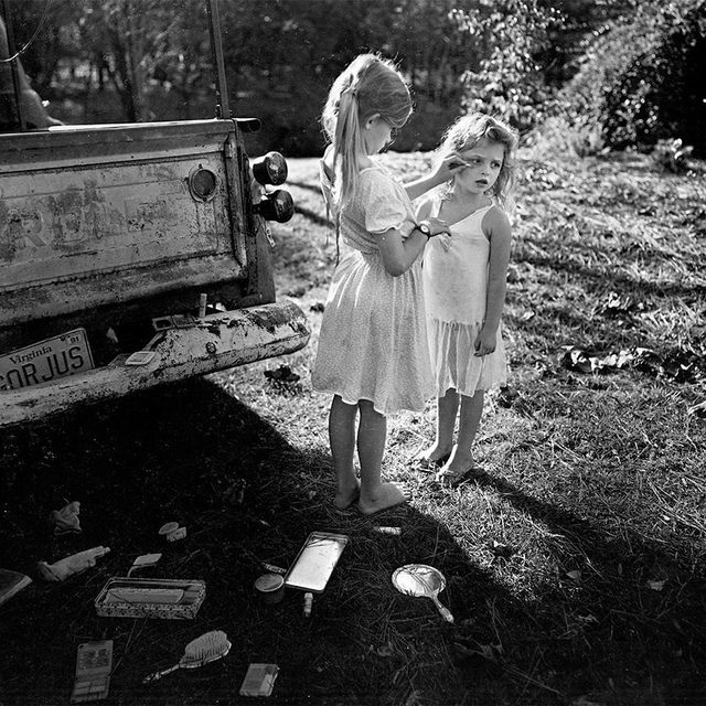 """Don't miss your chance to see """"Sally Mann: A Thousand Crossings,"""" before it closes on Sunday, September 22, at Jeu de Paume in Paris!  This exhibition, with more than a hundred photographs, many of which have never been exhibited, explores how Mann's relationship with the American South has shaped her work. From 1985 to 1994 she photographed her three children, Emmett, Jessie, and Virginia, at her family's summer cabin in the Shenandoah Valley. Rather than depicting the sentimental aspects of childhood, Mann captured its daily activities and mishaps, as well as its psychic complexity. Follow the link in our bio to learn more. __________ #SallyMann #Gagosian @athousandcrossings @jeudepaumeparis Sally Mann, """"Gorjus,"""" 1989, Gelatin silver print. Sayra and Neil Meyerhoff © Sally Mann"""