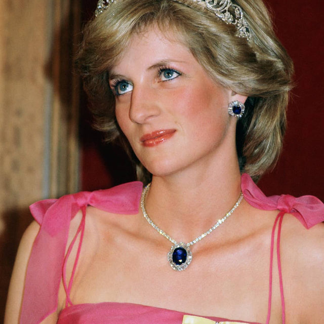 While most familiar in a deep blue colour, September's birthstone sapphire can come in every hue except for red – which earns the designation of ruby.  Long thought to protect wearers against harm, sapphires are closely associated with royalty – most famously Diana, Princess of Wales, thanks to her engagement ring and the Saudi suite of sapphires that she was given ahead of her wedding. From delicate rings of azure to exquisite necklaces in London blue topaz, click the link in bio to shop #BritishVogue's edit of the most beautiful sapphire jewellery to covet now.  #PrincessDiana photographed by Tim Graham in 1983.