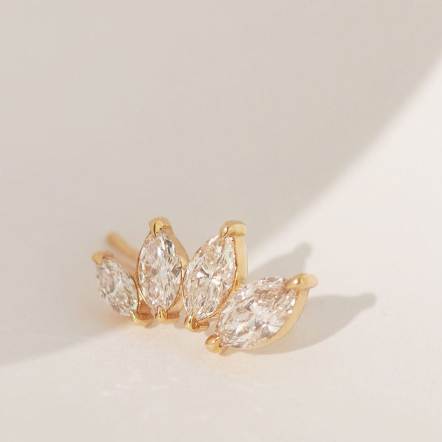 """""""I've changed jobs, changed career paths, ended relationships, started new ones, got married, moved states and more. The confidence to take those risks was built on my past experiences, that in the moment seemed unexpected and strange, but now help define who I am today."""" Hannah, Director of Customer Experience — Our new Marquise Diamond Ear Arc is your everyday reminder to stay the course, everyone's journey is different."""