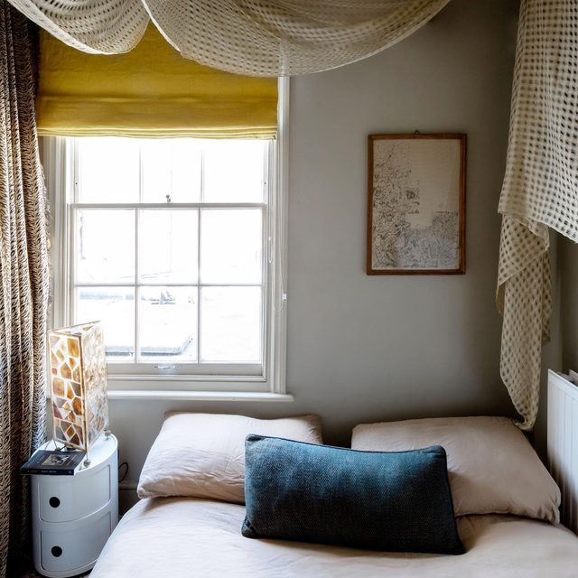 "You know that piece of fabric you fell in love with in the corner of a random antiques shop that now sits in the back of your closet? Put it to use as a dramatic draped canopy à la designer @holliebowden's bedroom 👆Hollie admits that she DIYed the canopy and ""it was a complete nightmare, but I love it."" And we 100% cosign 💛 See more of her space 👉 link in bio 📸 by @helenio_barbetta ✍️ by @atthecrosswalk; styles by @chiara_dal_canto"