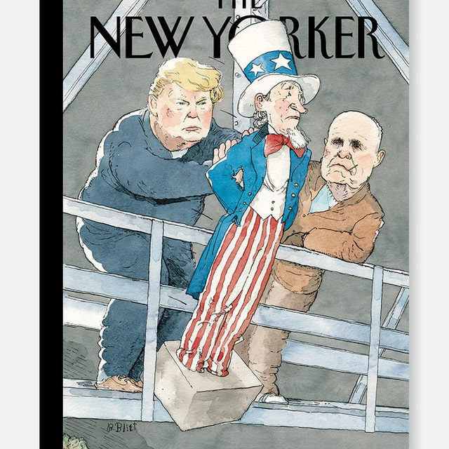 "An early look at next week's cover, ""Whack Job,"" by Barry Blitt. #TNYcovers"