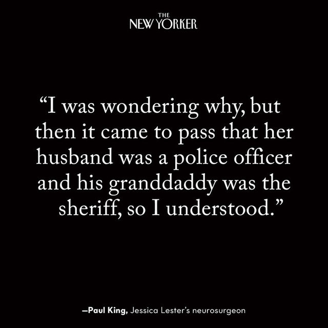 The night before she was to move out of the apartment she shared with her husband—the grandson of the sheriff and a police officer himself—Jessica Lester was shot. Despite evidence to the contrary, police concluded that her wounds were self-inflicted. What really happened? Read the story at the link in our bio.