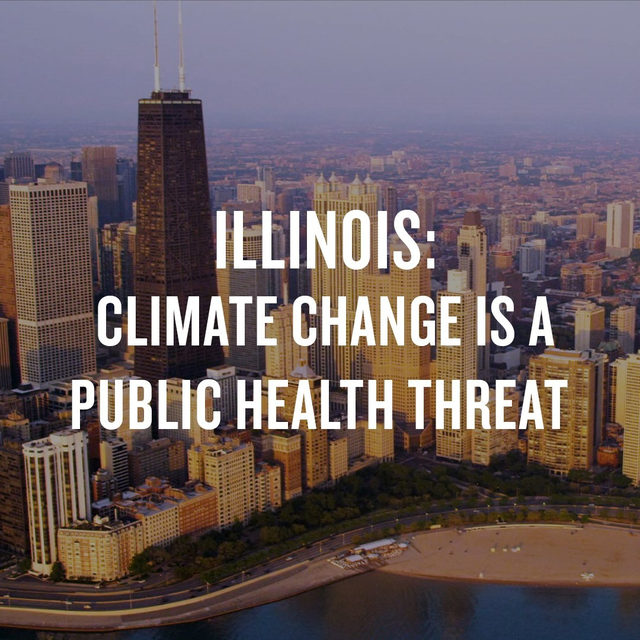 Illinois may not seem like the epicenter of the climate crisis, but the effects will be intense and dangerous. Urban heat islands like Chicago will see an increase in deadly hot days, and farmworkers will face a choice between their jobs and their health. 🔥🌡 There's still time to avoid the worst effects and prepare for the rest, but we have to act now. Link in bio to take action! ➡️