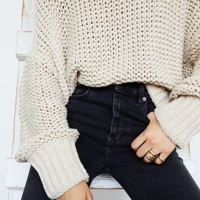 This is that sweater you always see on Pinterest but can never find online. We just helped you find it. Link in bio for the My Only Sunshine Sweater.