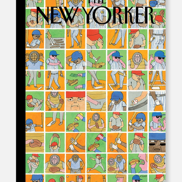 "This week's cover, ""Inside Baseball,"" by Edward Steed. #TNYcovers"