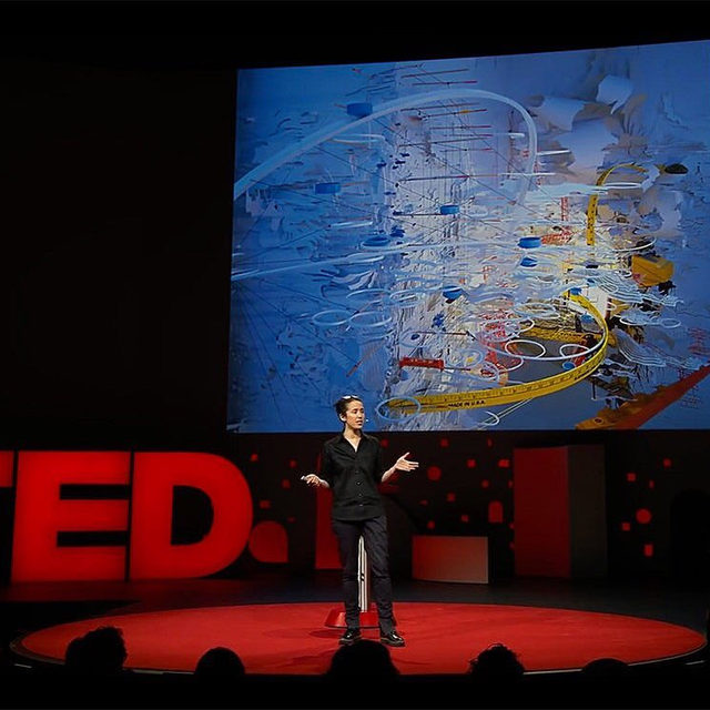 """#GagosianQuarterly: """"Why and how do objects acquire value for us? . . . How do we breathe life into inanimate objects?"""" —Sarah Sze  Join Sarah Sze as she speaks about the questions that drive her creative process in a TED talk recorded earlier this year. She describes creating immersive experiences that blur the lines between time, memory, and space—and between art and life. Follow the link in our bio to watch the video on Gagosian Quarterly. ___________ #SarahSze #TedTalks #Gagosian @ted Video still: courtesy TED"""