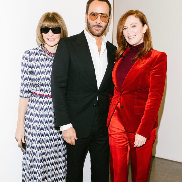 """""""Success is being satisfied with yourself as a person. It's feeling that you have done good in the world,"""" says @tomford. """"It's choosing what you want to be in the world, how you want to relate to other people. If you're happy and satisfied with whatever you're doing. You can't measure it by materialism."""" Tap the link on our bio for more highlights from his #ForcesofFashion conversation with @juliannemoore. Photographed by @coreytenold"""