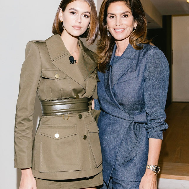 @cindycrawford and @kaiagerber discussed modeling in the #MeToo era, what they learn from each other, and their best fashion career advice in today's candid #ForcesofFashion conversation, which is now live on our Facebook page! Tap the link in our bio for more highlights from today. Photographed by @coreytenold