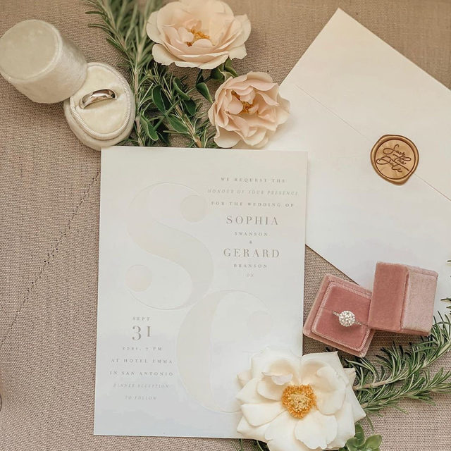 "Planner autumnfern and her team making ""Modern Initials"" Gloss-Press™ wedding invitation by loriwemple look good. 🌟 #MintedWeddings . . . . . #engaged #weddingideas #weddinginspiration #weddingdetails #weddingphotography #weddingplanning #weddingflatlay #justengaged #thatsdarling #pursuepretty #theknot #sayido #howtheyasked #marthaweddings #weddingflorals #weddinginvitation #glosspress #fallwedding #winterwedding #destinationwedding #design #style #art #diy #wedding"