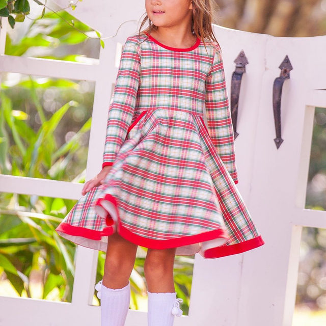 The perfect plaid twirl to coordinate with the rest of our Christmas plaid this holiday season! We have the whole family covered ❤️ Coming 10/23.