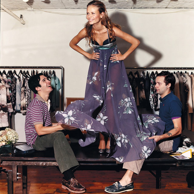 One day @proenzaschouler's Lazaro Hernandez and Jack McCollough were Parsons students, and the next they were fashion stars. Fashion's overnight sensations don't always make it, and many of the designers who came up alongside Hernandez and McCollough in post-9/11 New York have downsized or shuttered their businesses altogether. A decade-and-a-half later, Hernandez and McCollough, who spoke at today's #ForcesofFashion conference, are no longer the new kids on the block, but they still command the hippest crowds at New York Fashion Week. Watch their panel live now on our Facebook page–and tap the link in our bio to see more from behind-the-scenes at #ForcesofFashion. Photographed by @arthurelgort, Vogue