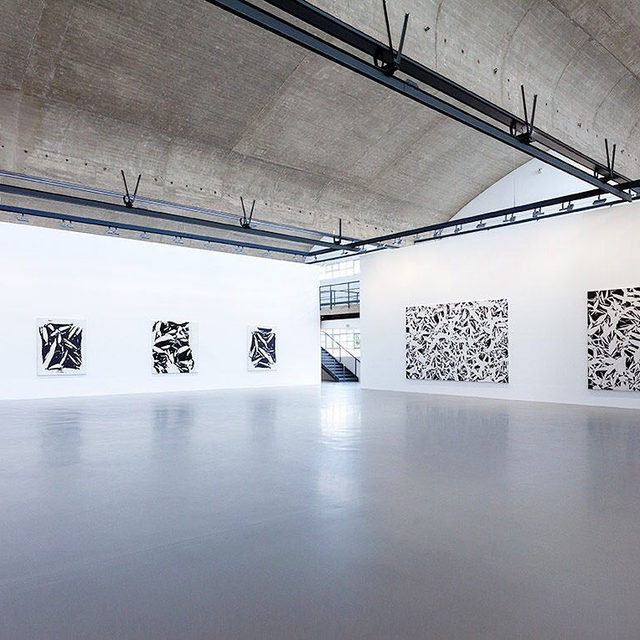 """#SimonHantai: Join us tomorrow, October 13, from 3–6pm, for the opening reception of """"Simon Hantaï: LES NOIRS DU BLANC, LES BLANCS DU NOIR"""" at Gagosian, Le Bourget! The exhibition features Hantaï's black-and-white paintings and prints dating between 1951 and 1997. Learn more via the link in our bio! __________ #Gagosian  Installation view, """"Simon Hantaï: LES NOIRS DU BLANC, LES BLANCS DU NOIR,"""" Gagosian, Le Bourget, October 13, 2019–March 14, 2020. Artwork © Archives Simon Hantaï/ADAGP, Paris"""
