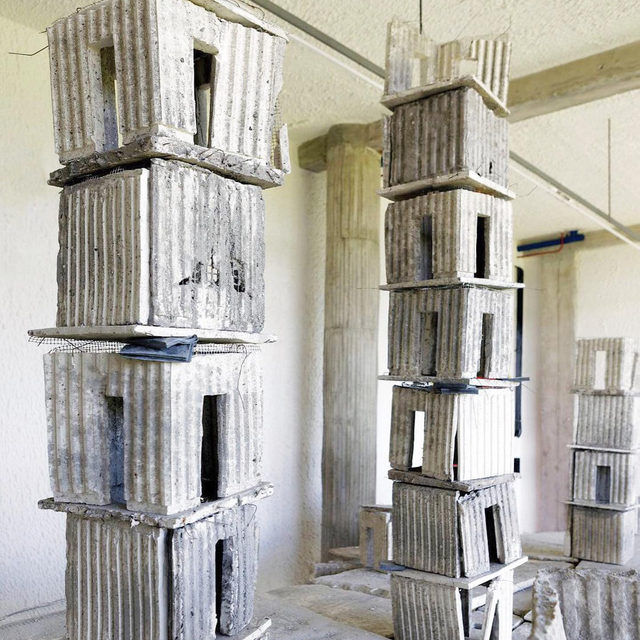 """Visit La Tourette, in Éveux, France, to see an exhibition of works by Anselm Kiefer, currently on view through December 22.  In 1966 Kiefer spent a few weeks at La Tourette, the monastery designed by Le Corbusier, where he was inspired by the materiality of the architecture. This exhibition aims to place Kiefer's work in dialogue with this special place and includes installations, paintings, sculptures, and vitrines with the artist's books. Find out more via the link in our bio! __________ #AnselmKiefer #LaTourette #Gagosian  Installation views, """"Anselm Kiefer à La Tourette,"""" Couvent de La Tourette, Éveux, France, September 24–December 22, 2019. Artwork © Anselm Kiefer. Photos: Jean-Philipe Simard"""