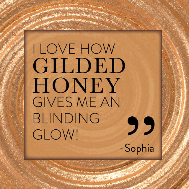 DROP YOUR THOUGHTS ABOUT GILDED HONEY ✨😍 We want to know! . . . #lauragellerbeauty #gellerglow #highlightergoals