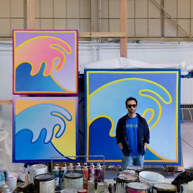 """Happy birthday to Alex Israel, who was born on this day, October 14, in Los Angeles!  Head to """"Gagosian Quarterly"""" to read an interview between Israel and curator and writer Venus Lau. The artist reveals his spirit animal, discusses his love of Duchamp, and tells Lau about the process behind some of the works presented in """"New Waves"""" at Gagosian, Hong Kong, last year.  __________ #AlexIsrael #Gagosian #GagosianQuarterly @alexisrael Photo: Jeff McLane"""