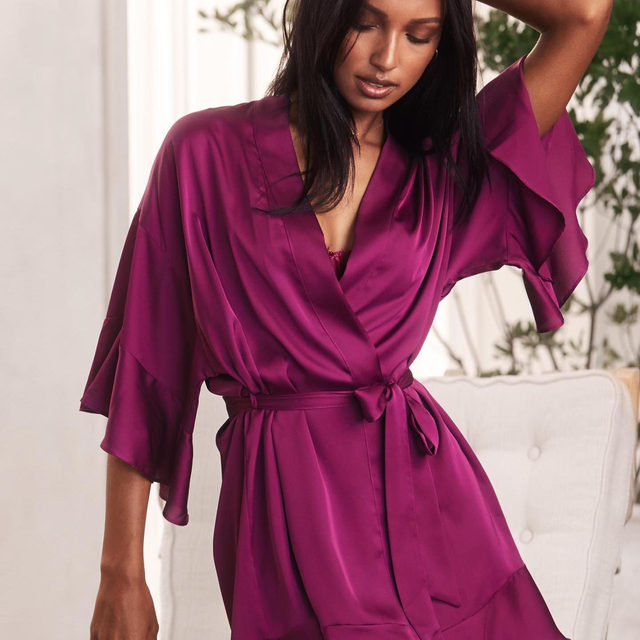 A little ruffle. A lot of drama. One perfect robe.