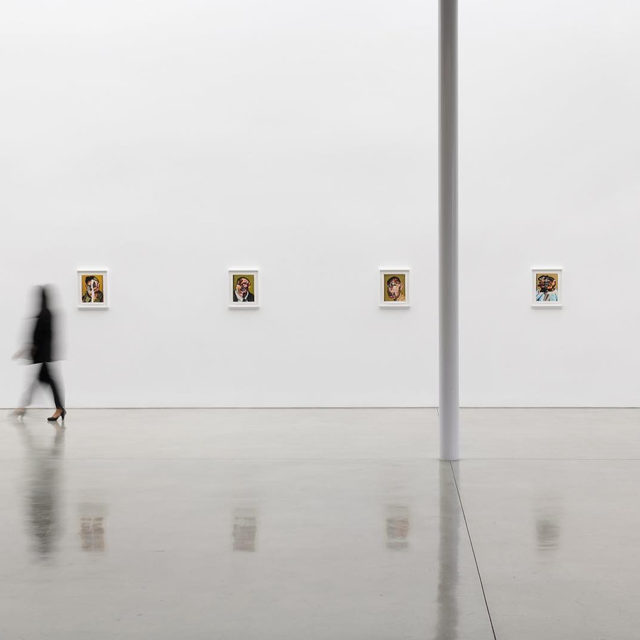 """#NathanielMaryQuinn: Drop by Gagosian, Beverly Hills to see Nathaniel Mary Quinn's exhibition """"Hollow and Cut"""" before it closes this Saturday!  Quinn's portraits on display in """"Hollow and Cut"""" reject the notion of documentary portraiture; instead of depicting physical likeness, he illuminates subconscious aspects of the human psyche, coaxing forth manifestations of innate and repressed emotions. Follow the link in our bio to read more about the show. ___________ #Gagosian @nathanielmaryquinn Installation views, """"Nathaniel Mary Quinn: Hollow and Cut,"""" Gagosian, Beverly Hills, September 11–October 19, 2019. Artwork © Nathaniel Mary Quinn. Photos: Jeff McLane"""