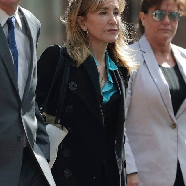 "Breaking: Felicity Huffman has turned herself in to begin her prison sentence. ""I take full responsibility for my actions and as a first step for making amends for my crime, I will accept whatever punishment."" Link in bio for the story as it happens. (📷: Shutterstock)"