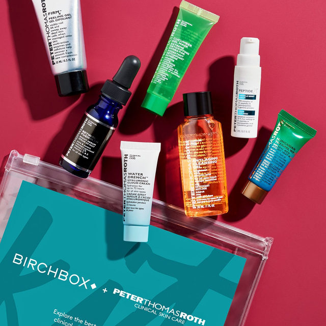 Give us a P! Give us a T! Give us a R! Put it all together and you've got the @peterthomasrothofficial x Birchbox Kit, now live in the shop! This kit has all the products you need to know from PTR in one convenient pouch. Firming, moisturizing, anti-aging, soothing! We could go on and on but we want you to experience the clinical goodness yourself. #LinkInBio