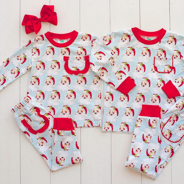 Are your little one's Christmas morning ready?  Our Vintage Santa Loungewear has you covered 🎁🎅Available 10/23
