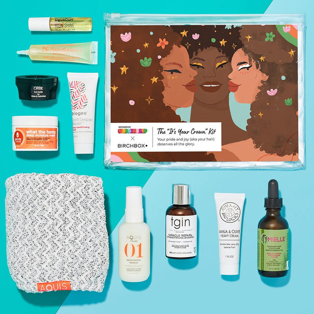 Treat your type 4 curls (aka your crown) 👑 with our exclusive @r29Unbothered x Birchbox 'It's Your Crown' kit for Black women. It has oils, masks, moisturizers, cleansers and a towel turban. We'll keep your curls hydrated 💦and happy ❤️ Don't forget - we've also got your glow taken care of with The 'Stay Radiant' kit. Both are $38 in our shop. Get them now!  #linkinbio