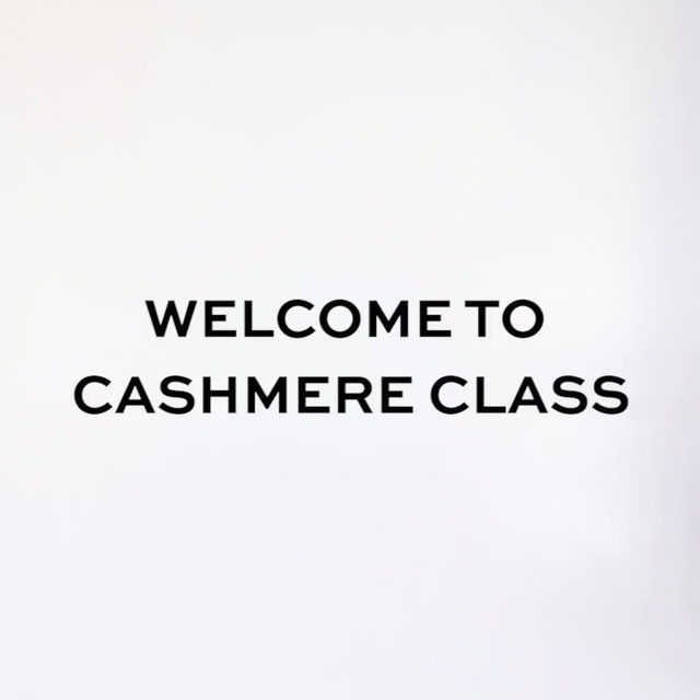 Welcome to Cashmere Class. Head to our link in bio to get schooled. @marinatestino
